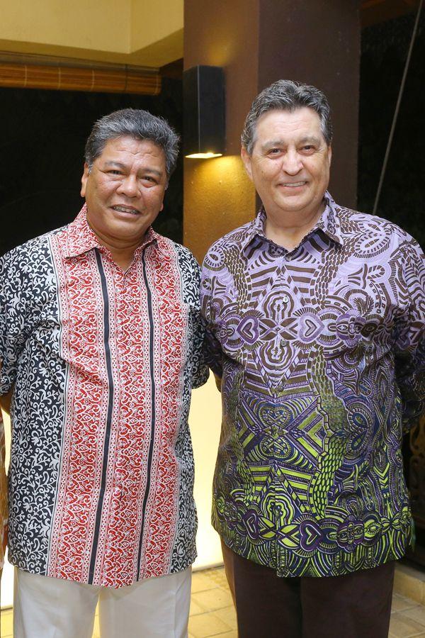 Dato' Seri Abdul Azim Mohd Zabidi and Nick Lough