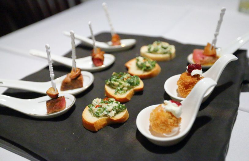 Guests were treated to canapes and cocktails accompanied by stunning floral arrangements by Maison des Roses.