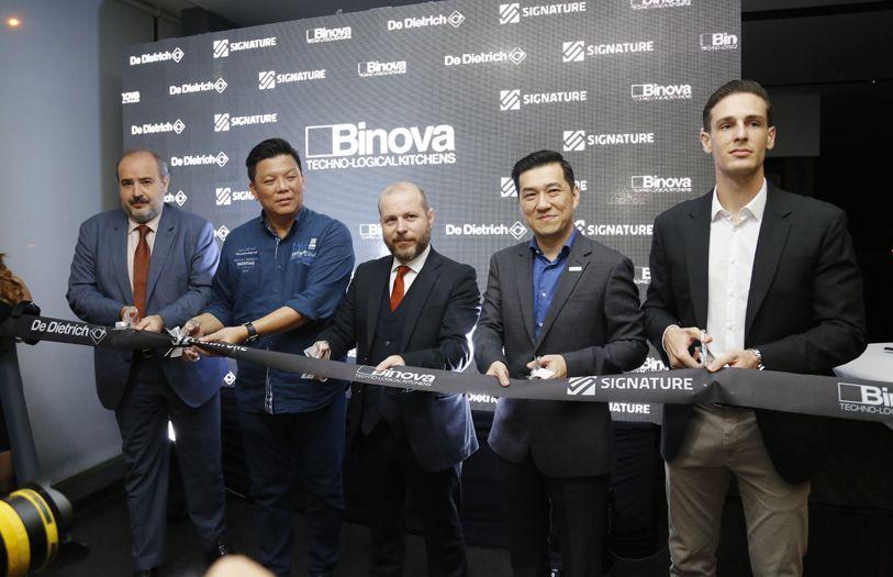 Samuele Porsia, Dato' Michael Chooi, Gary Fontana, KS Lau and Tobias Schweizer