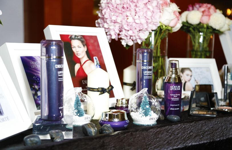The Decorte products used for the indulgent hand massage sessions
