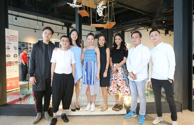 Gabrielle Tan-Helfman poses with her collaborators for The Studio