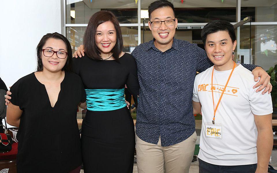 Jayne Kennedy, Jasmine Ng, John-Son Oei and Jon Ming Loh