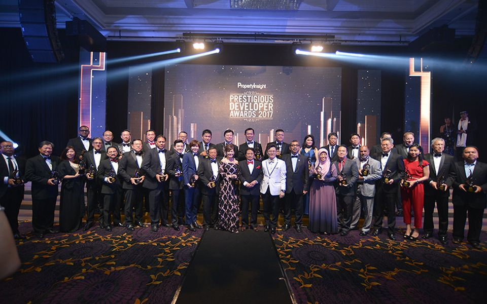 The winners of this year's Prestigious Developer Awards