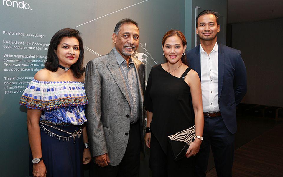 Datin Usha Nair, Dato' Mohan Karthigasu, Elyna Effendi and Casmad Sanuri