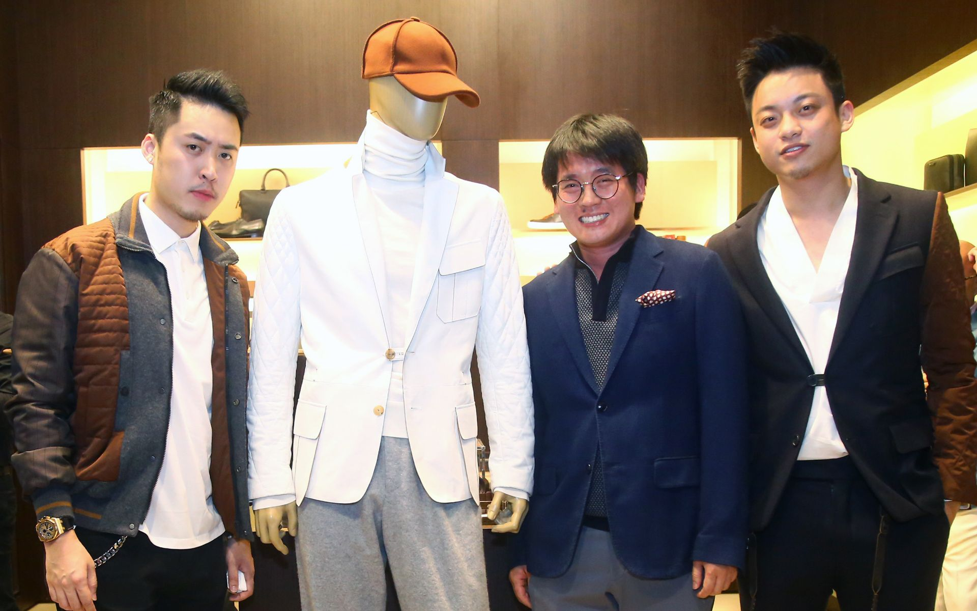 Bryan Loo, Timothy Tiah and Jayden Liew in Ermenegildo Zegna suits