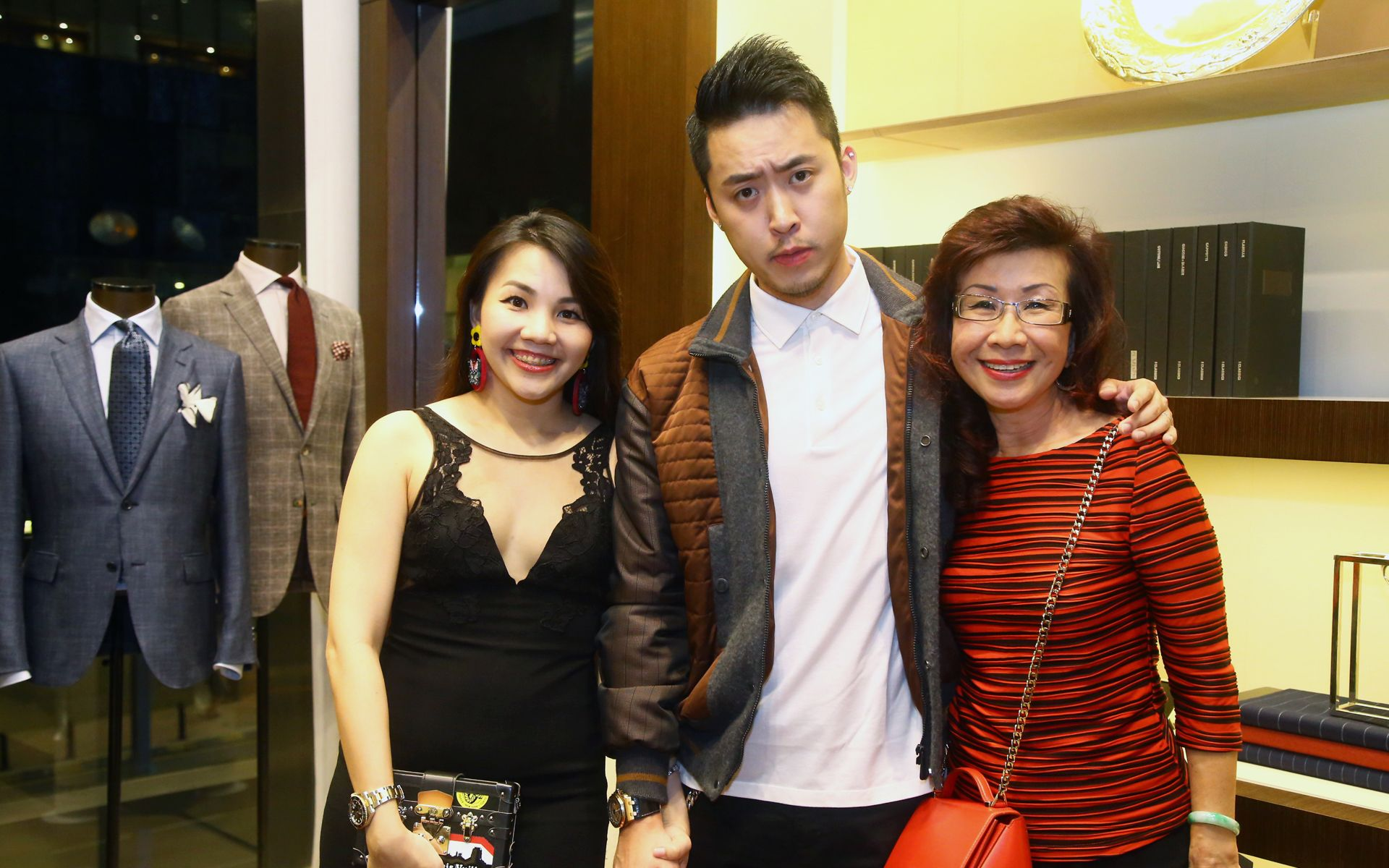 Sally Quah, Bryan Loo and Florence Fang