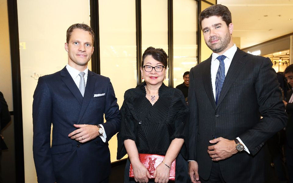 Maxence Kinget, Dato' Joyce Yap and Geoffroy Lefebvre