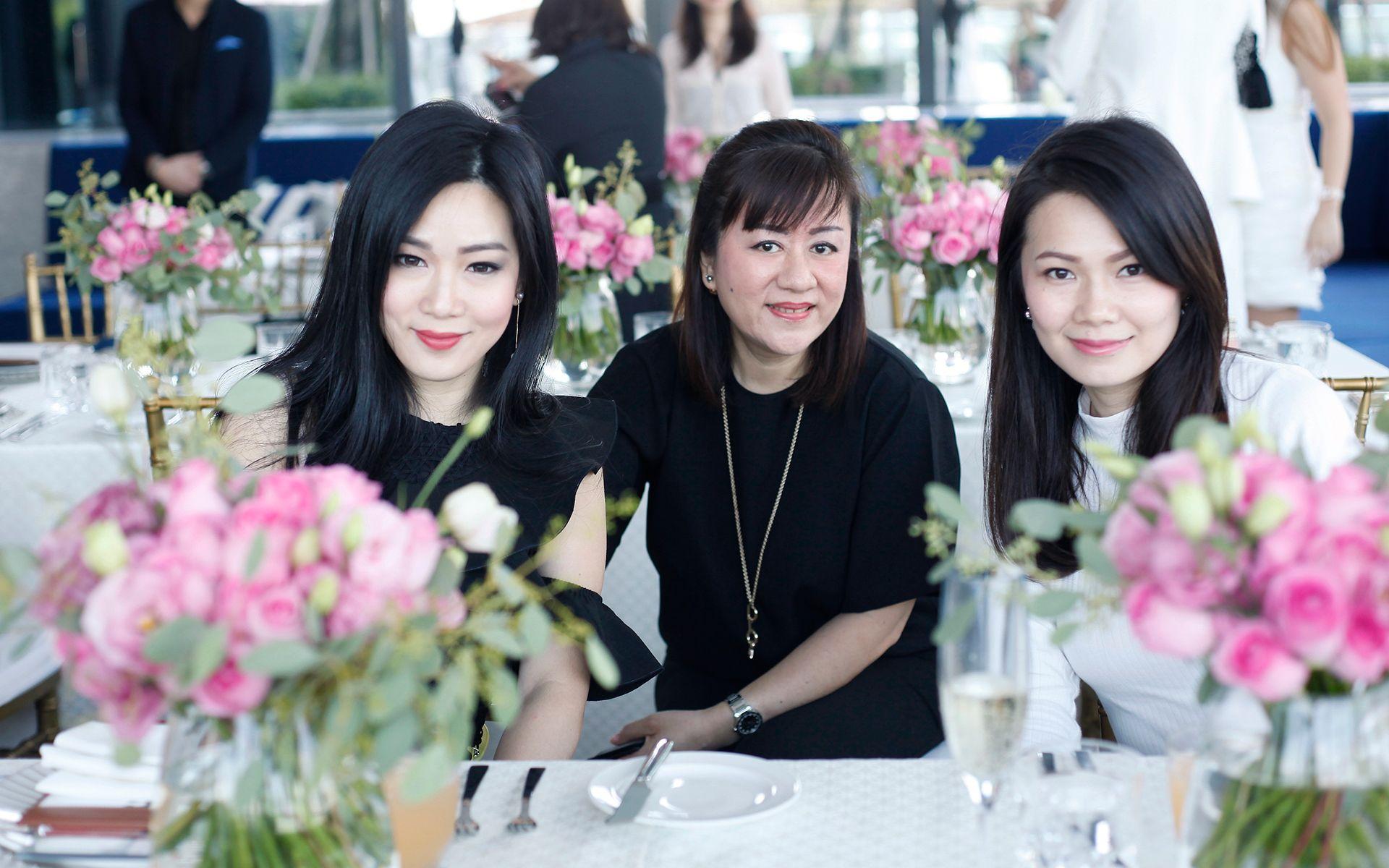 Shaine Wong, Angela Ong and Sunny Leong