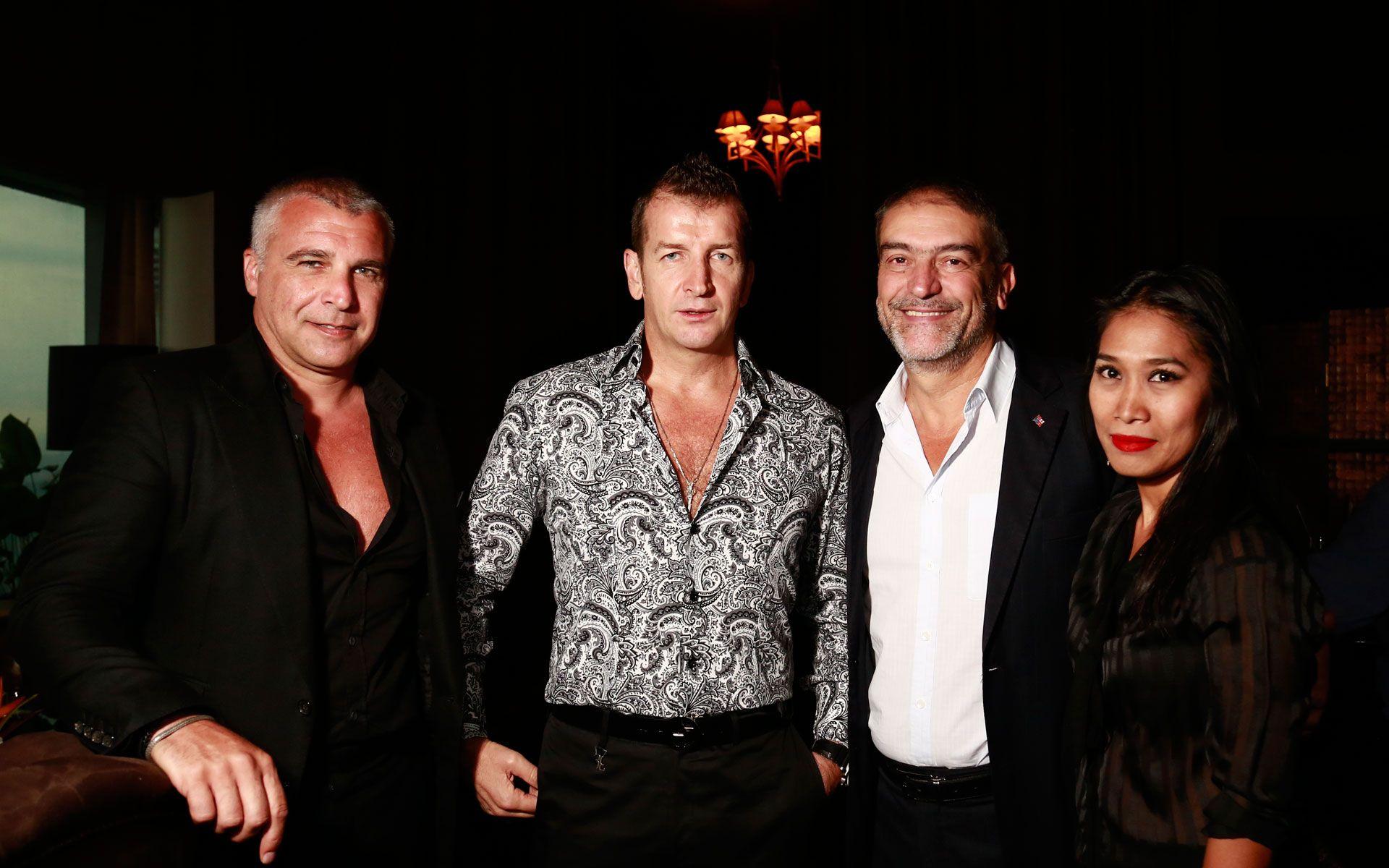 Daniel Beltsos, Cav Modesto Marini, Bruno Bretella and Syazwani Mohd