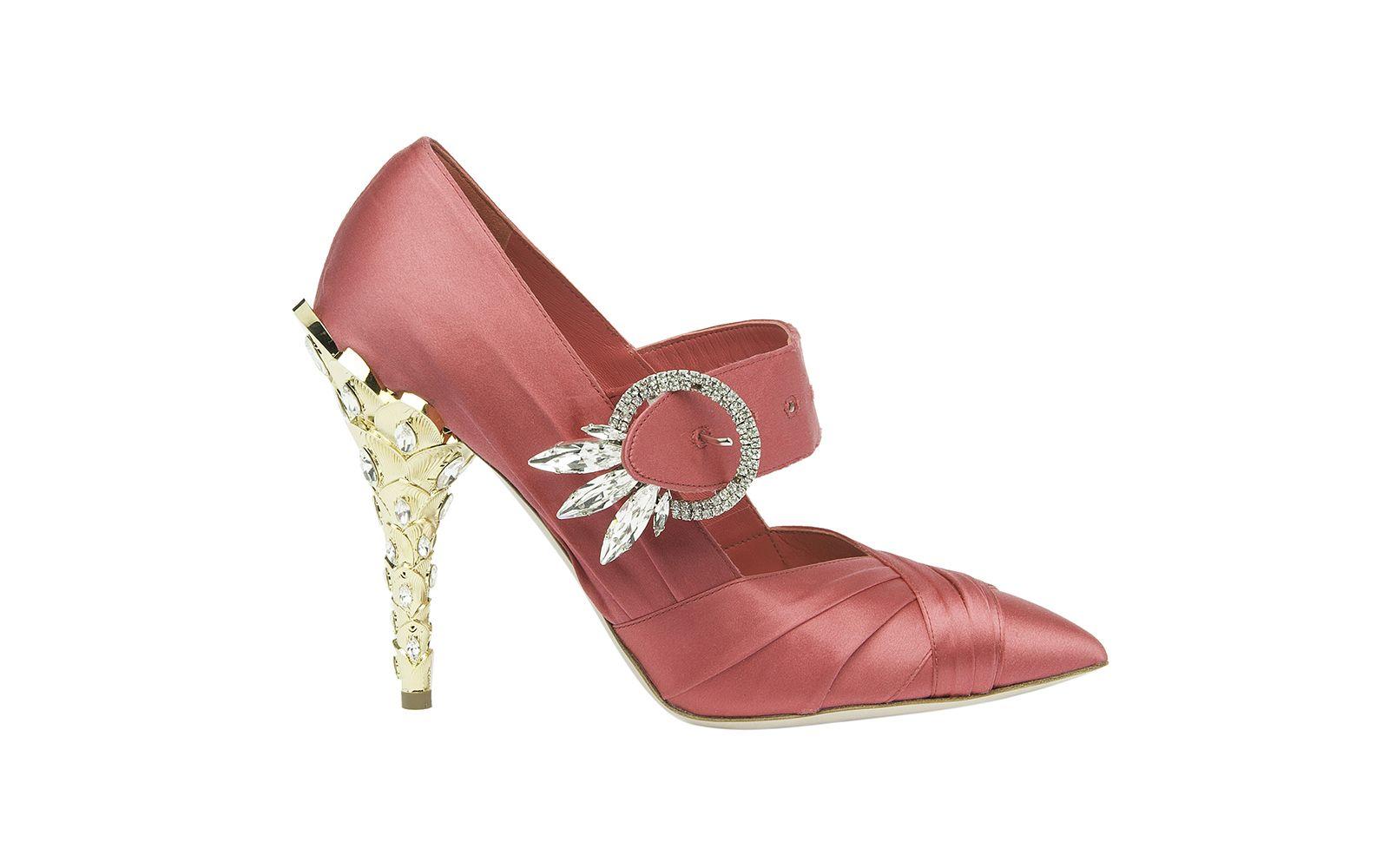 Miu Miu silk heels in pink (Photo: Courtesy of Miu Miu)