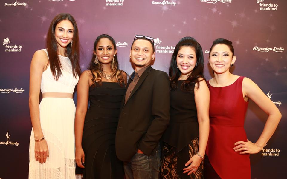 (L-R) Deborah Henry; Aishy Vimal; Tim Fernandez; Founder of Dancesteps Studio, Shirena Hamzah and Clara Lim