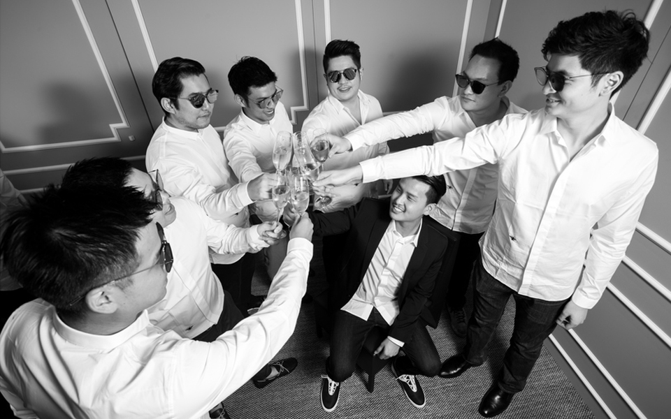 Marcus Teo and his groomsmen celebrated his upcoming nuptials at...