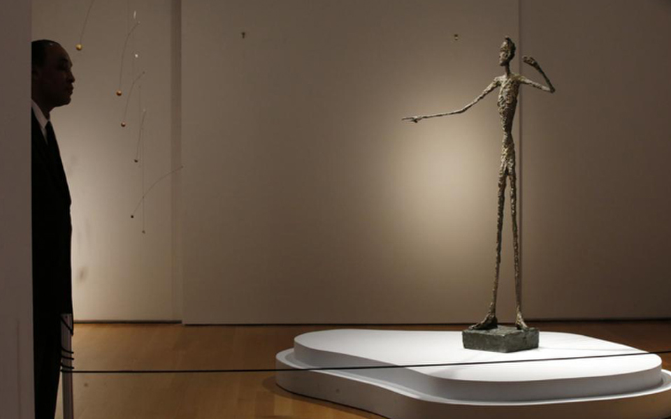 Alberto Giacometti's life-size sculpture Pointing Man, Christies May 2015 - $141 million