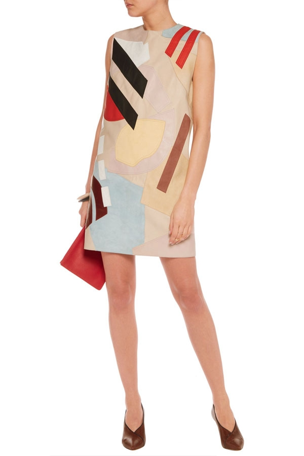 ACNE STUDIOS Helima suede and leather mini dress.jpg