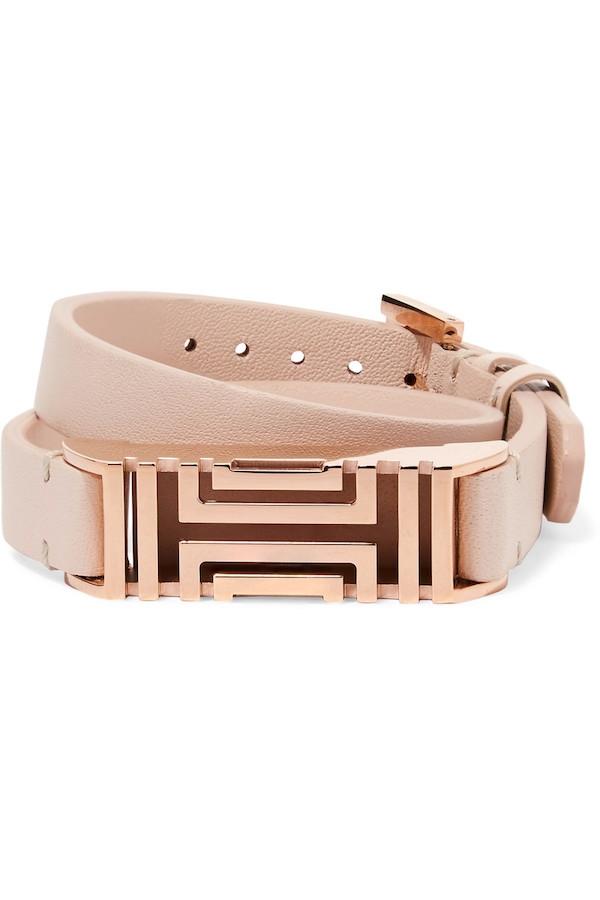 TORY BURCH + Fitbit Fret leather wrap bracelet.jpg
