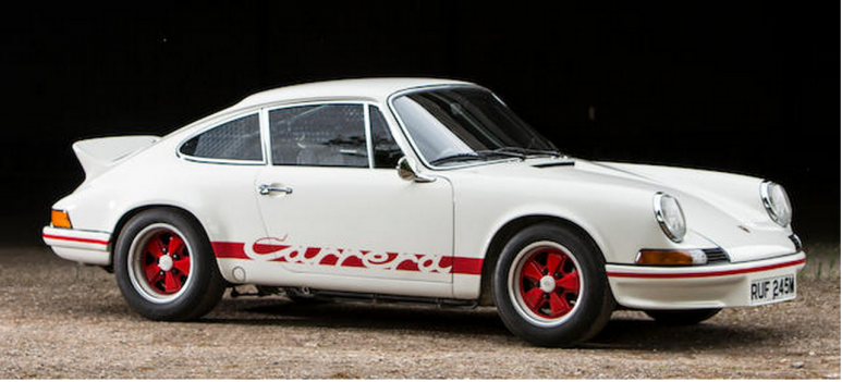 The 1973 Porsche 911 RS Lightweight Carrera sold for £830,300.png