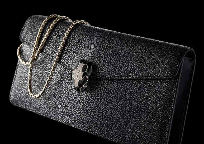 10.2-Bvlgari-Serpenti-Forever-flap-cover-bag-in-black-and-silver-smoky-galuchat-skin.jpg
