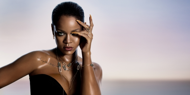 Rihanna wearing the RIHANNA ♥ CHOPARD Joaillerie collection.jpg