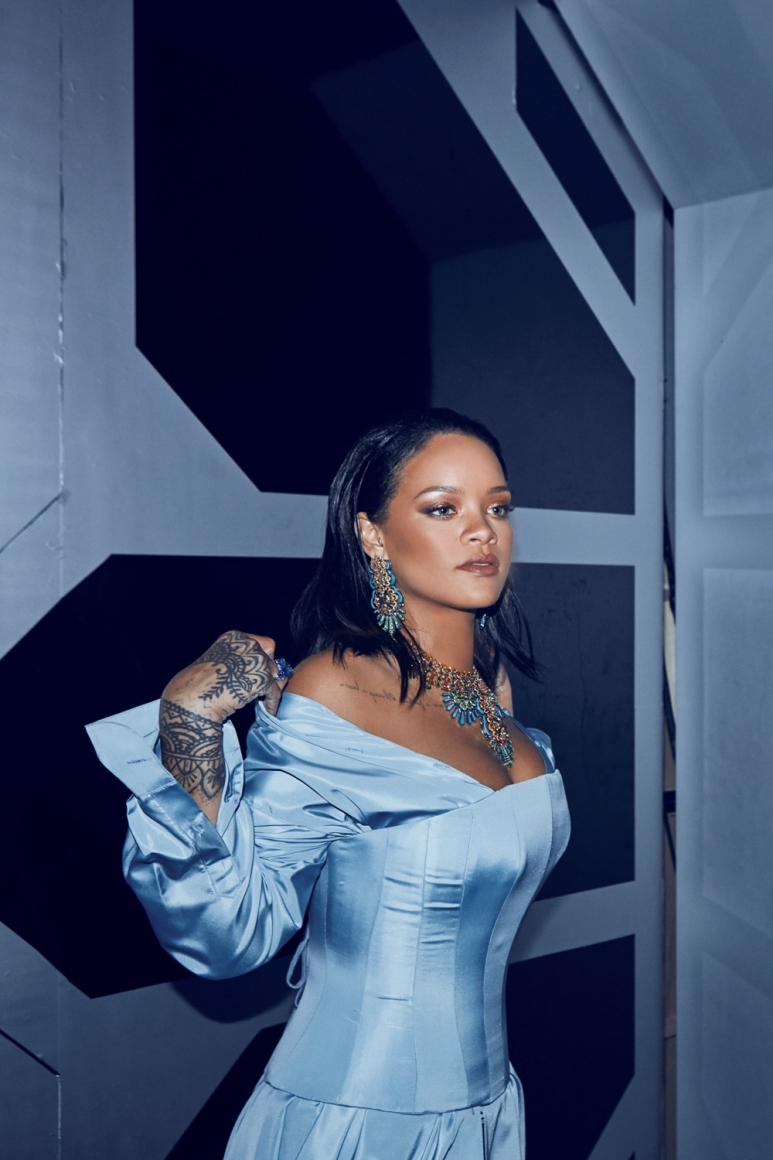 Rihanna in Chopard at the SPACE Party.jpg