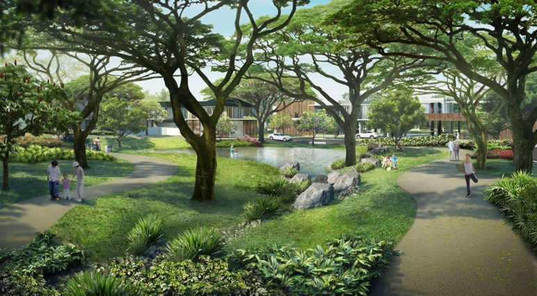 The Enclave Alabang Central Park and Man-made Lagoon.jpg