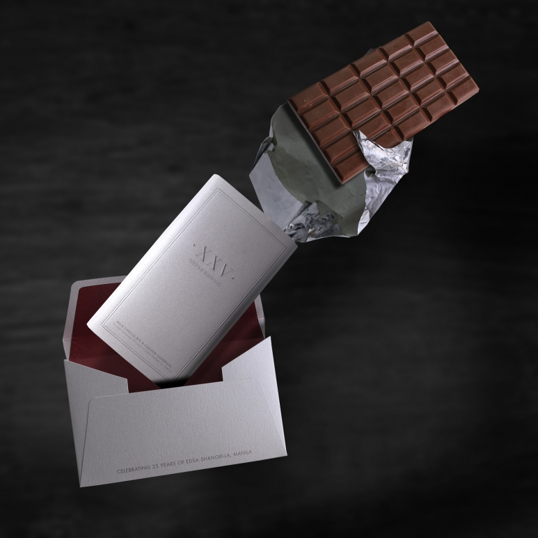 The Bakeshop's Limited Edition Silver Anniversary Chocolate Bar.jpg