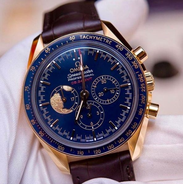 Only 272 pieces of this beautiful Omega Speedmaster XVII 45th Anniversary in Gold Limited Edition.  Image Courtesy of todayonthewrist..jpg