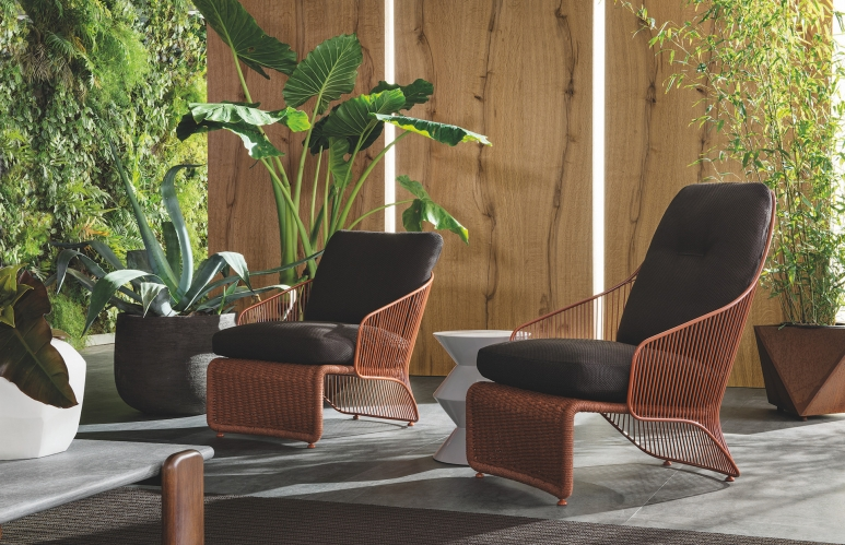 Featuring one of the collection's highlights, Colette armchair from the outdoor collection.jpg