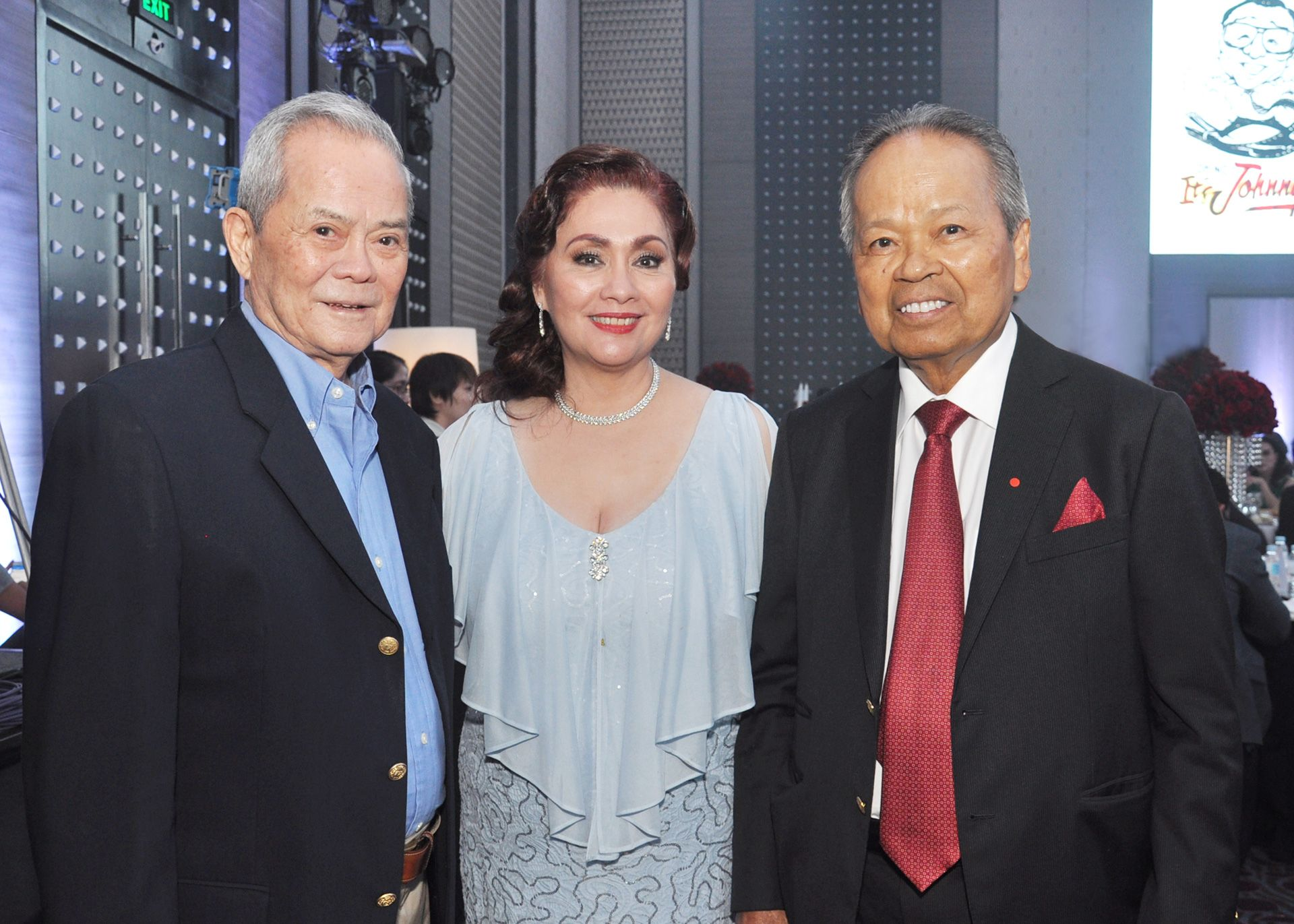 Vic Reyes, Dr. Minguita Padilla, and former Chief Justice Artemio Panganiban