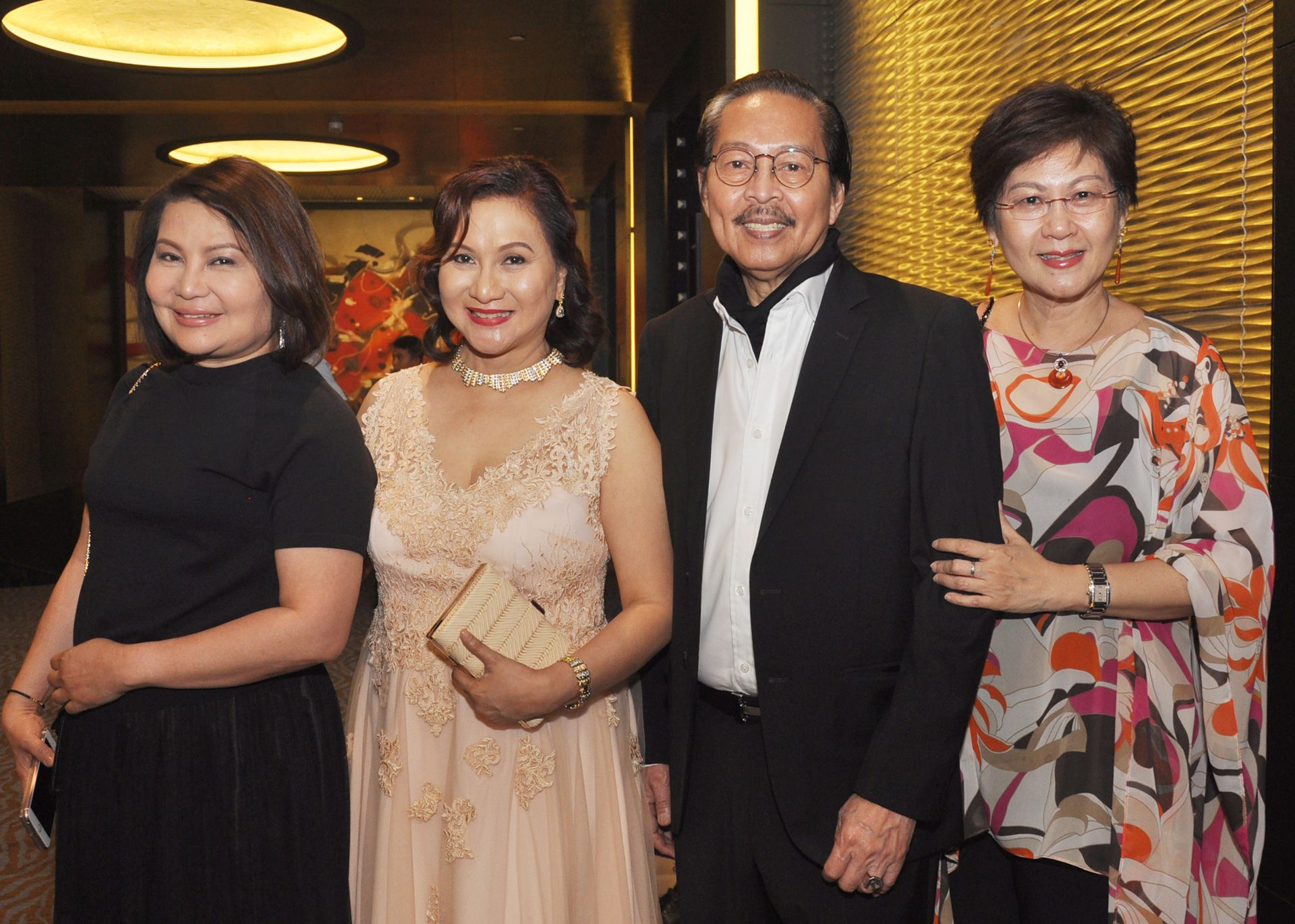 Marian Ong, Chuchi Villar, Ramon Orlina and wife Lay Ann