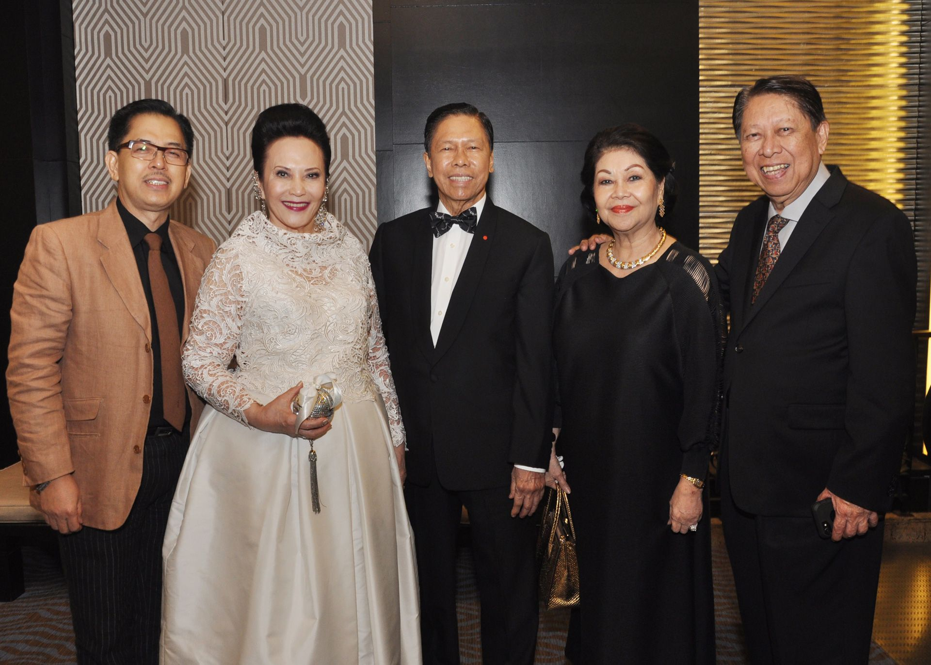 Edwin Medalla, Consuls Mellie and Louie Ablaza, with Mimi and Reuben Valerio
