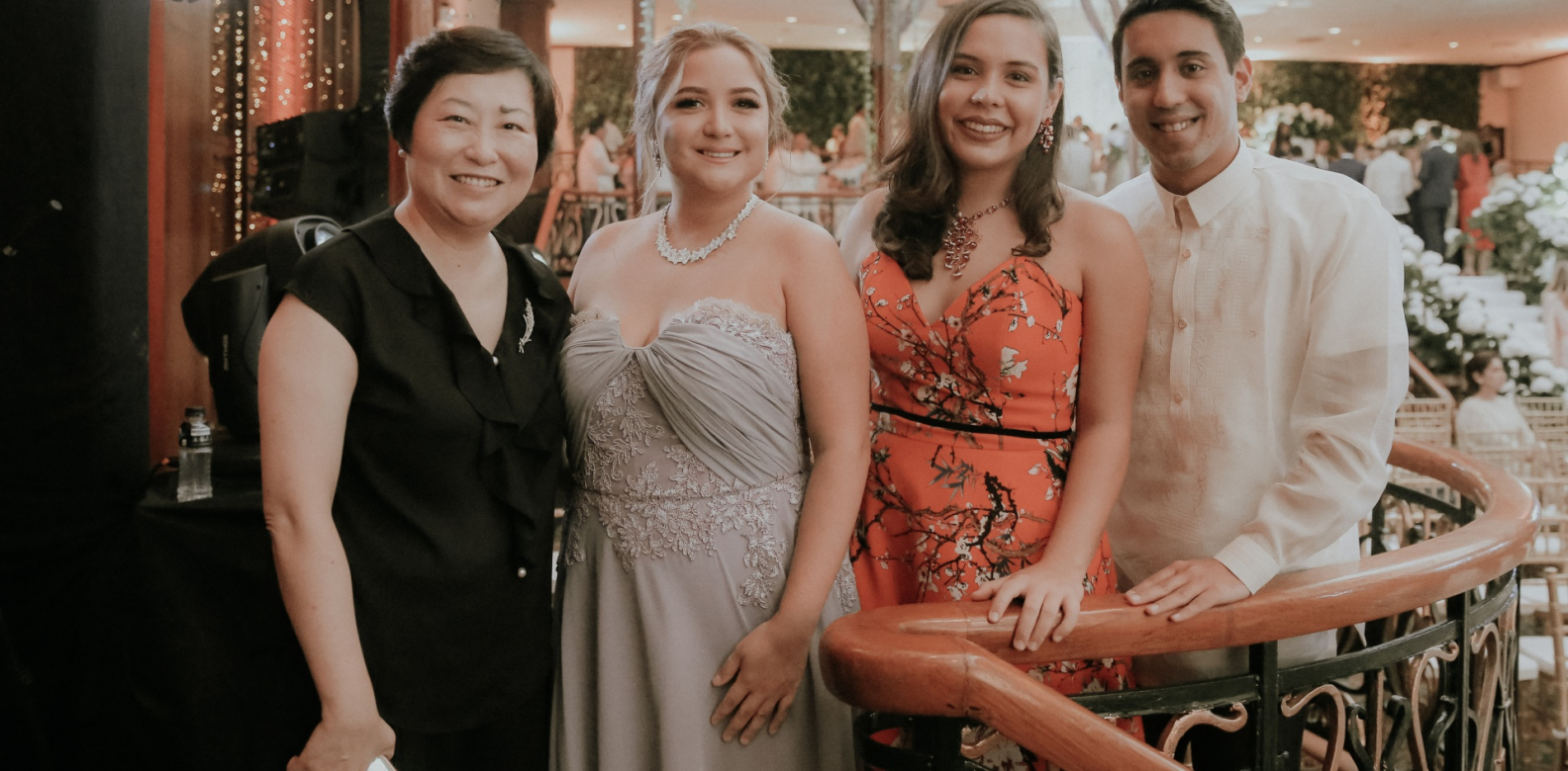 Sylvia Fu, Camille Lhuillier Madeline Lhuillier and Jaime Silverio