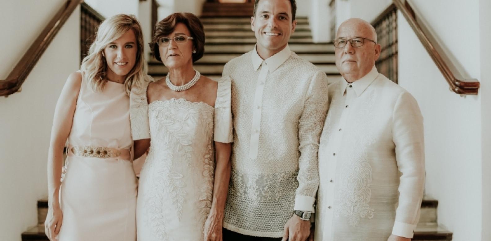 Claudia Aguilar Garcia, Alejandra Garcia Soriano, the groom, and Jose Aguilar Guillén