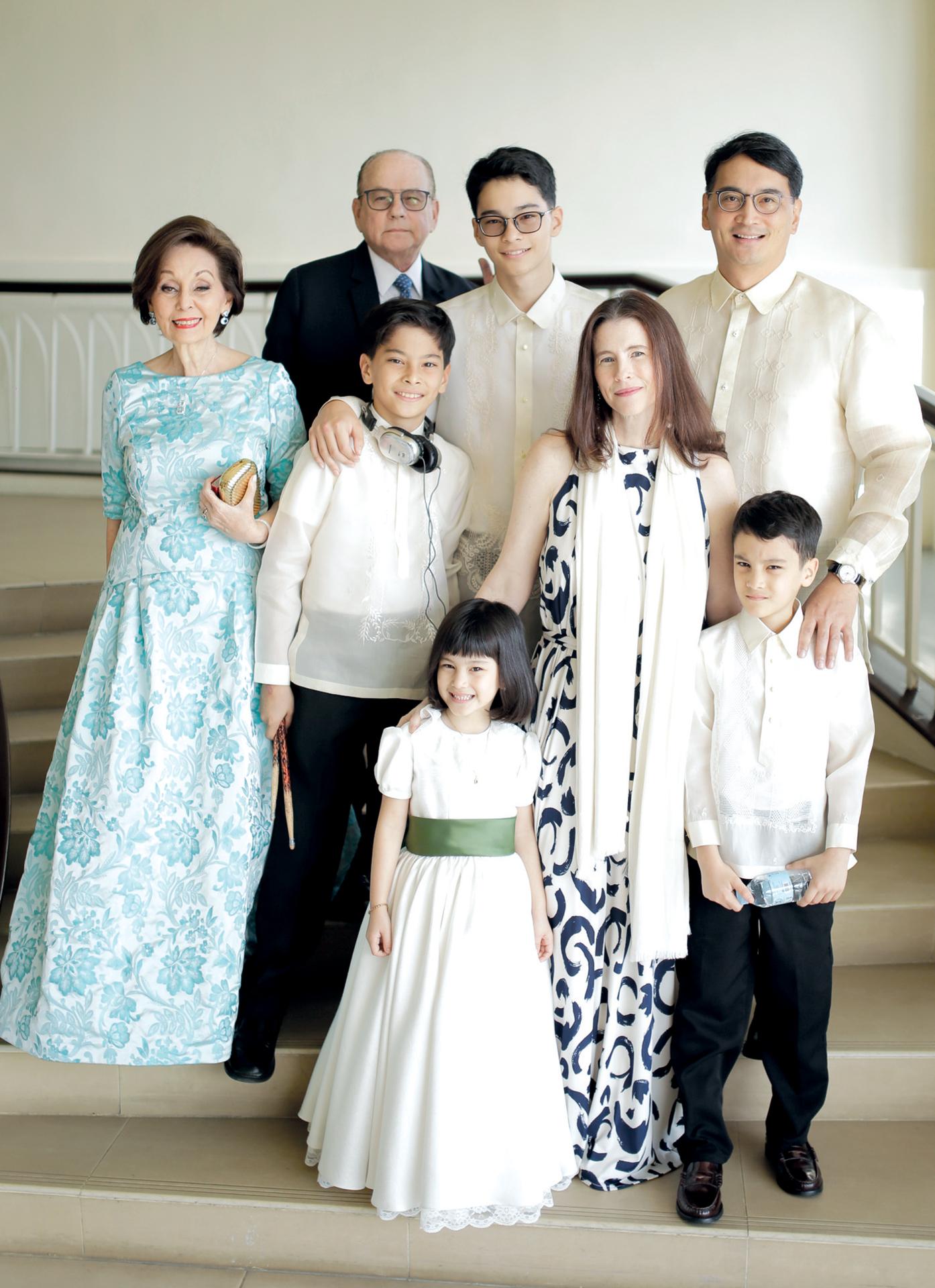 Antonio Ortigas Olbes and family