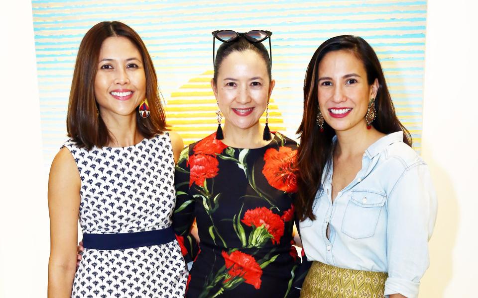Anne Arcenas-Gonzalez, Mia Borromeo, and Stephanie Zubiri Crespi