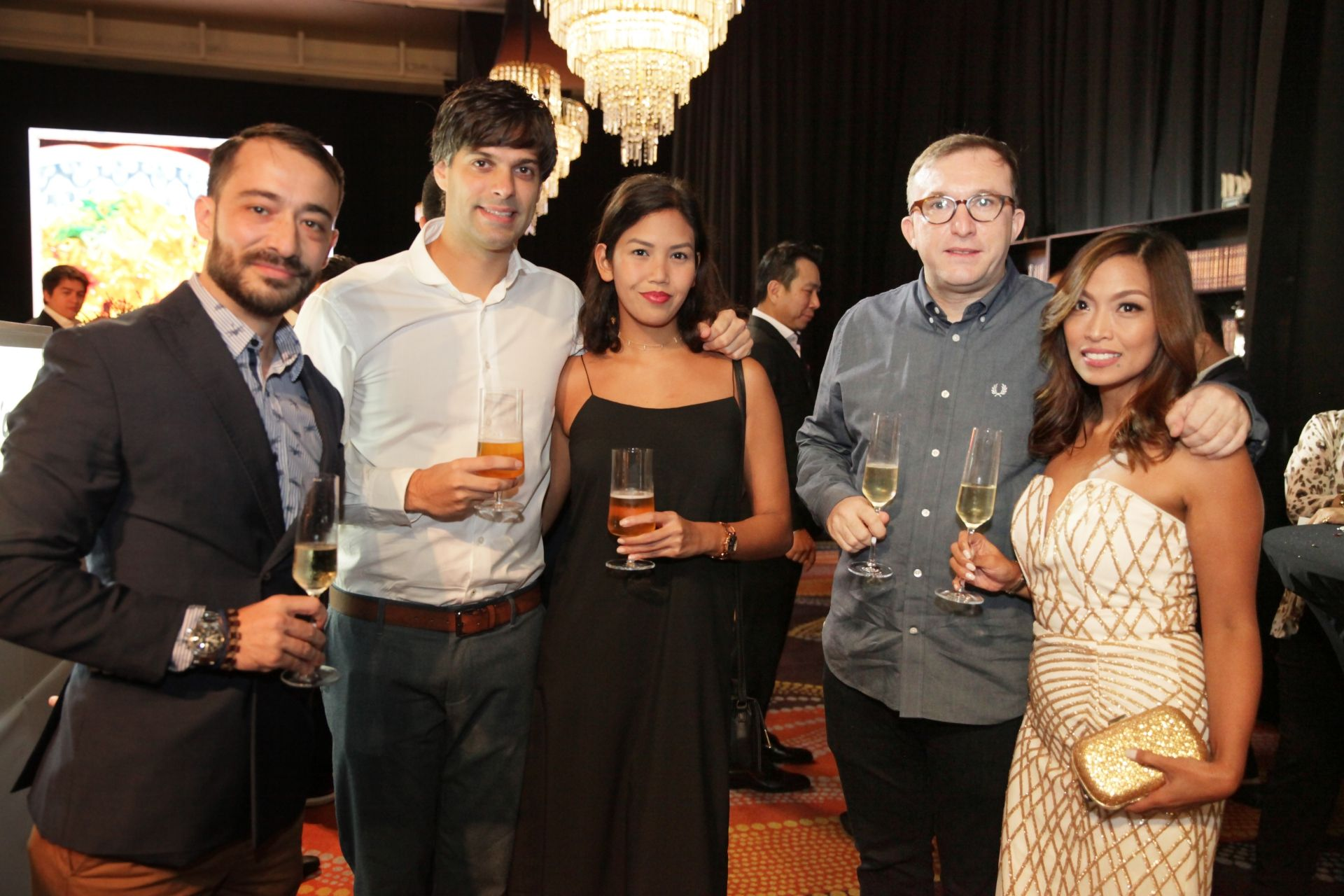Dani Aliaga, Uri Singla and Jopet Reyes, Chele & Teri Gonzalez