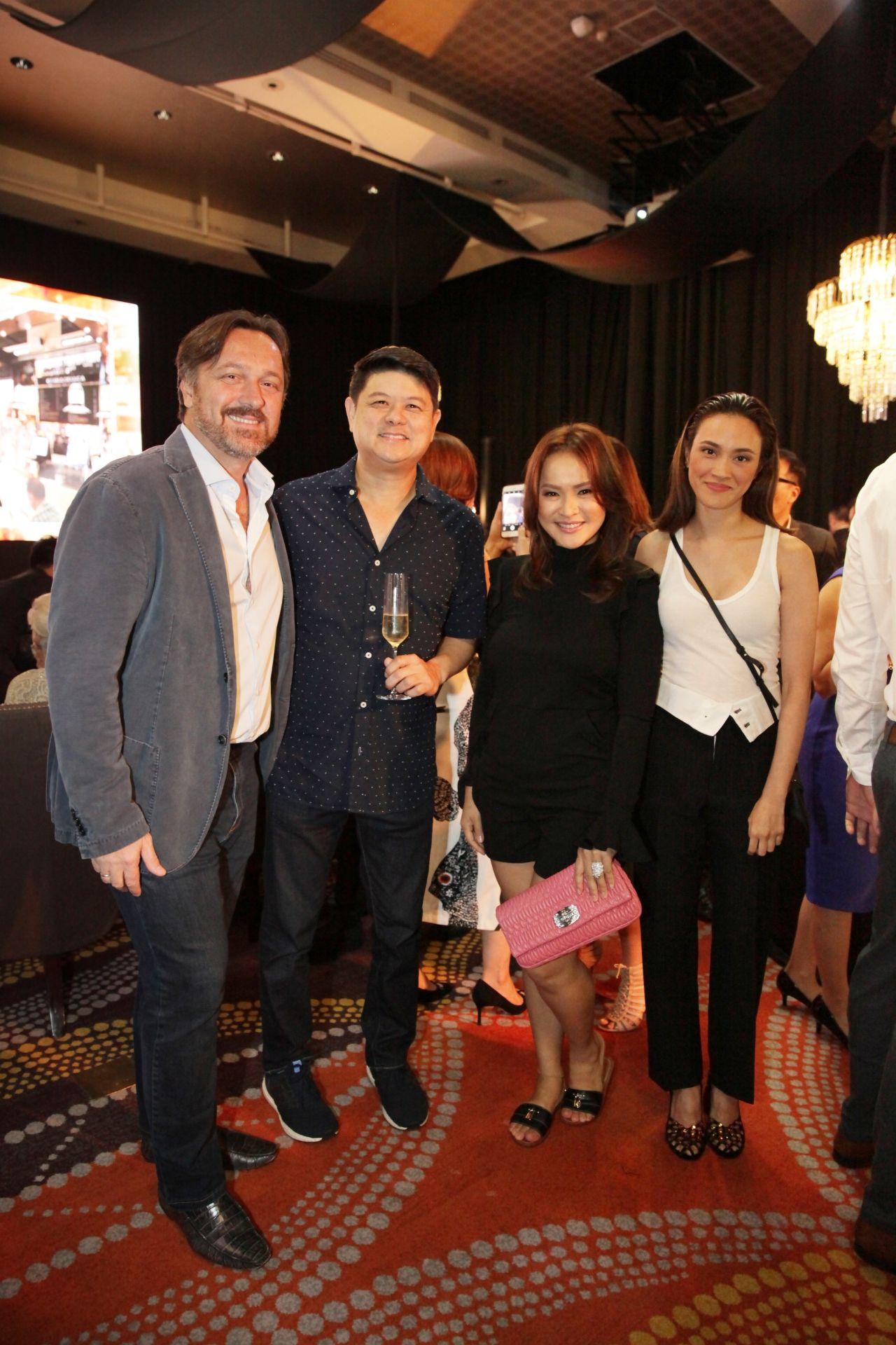 Gabriele Boschi, Paolo Prieto, Michelle Garcia and Ria Prieto