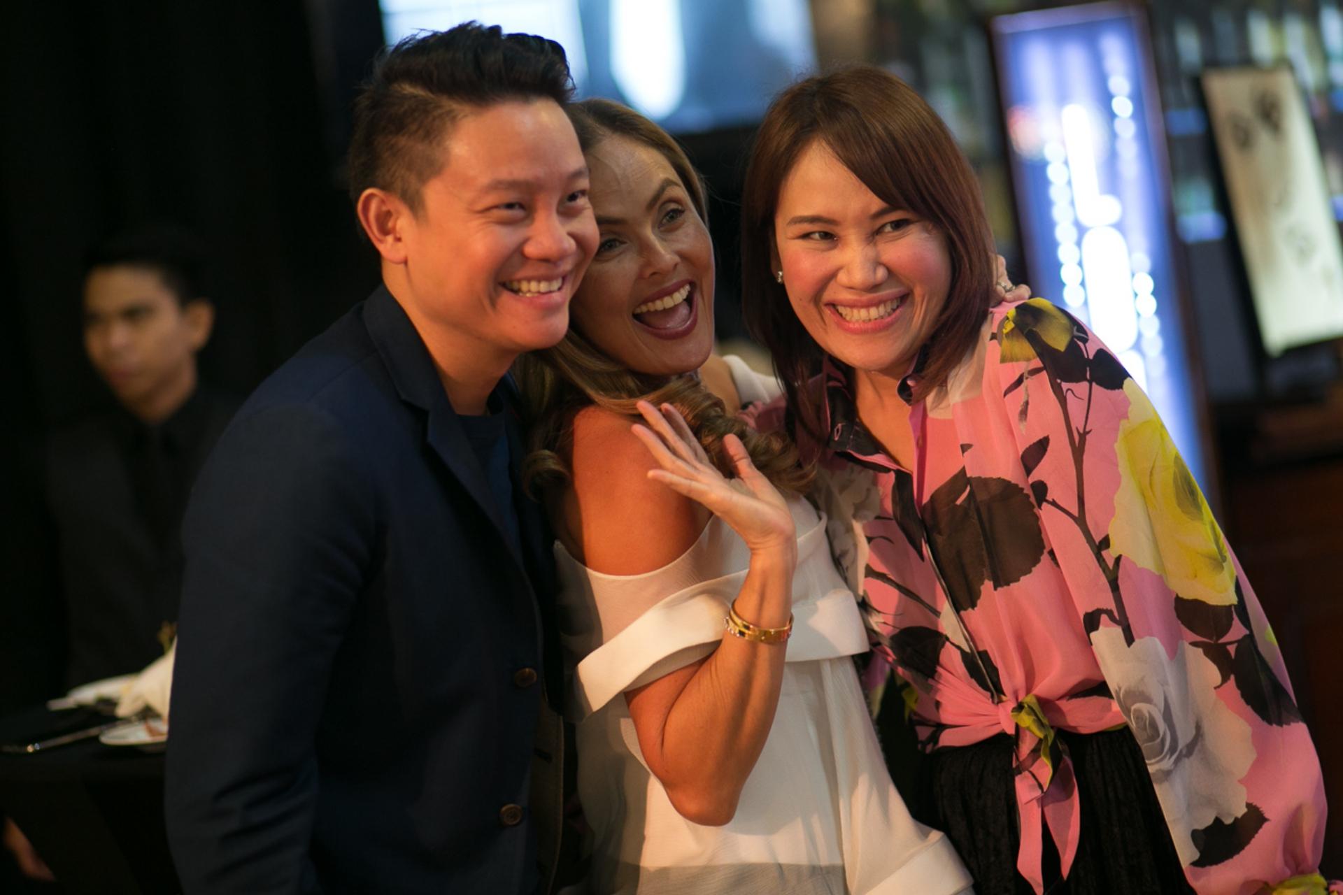 Z Teo, Joanna Preysler Francisco and Aivee Teo