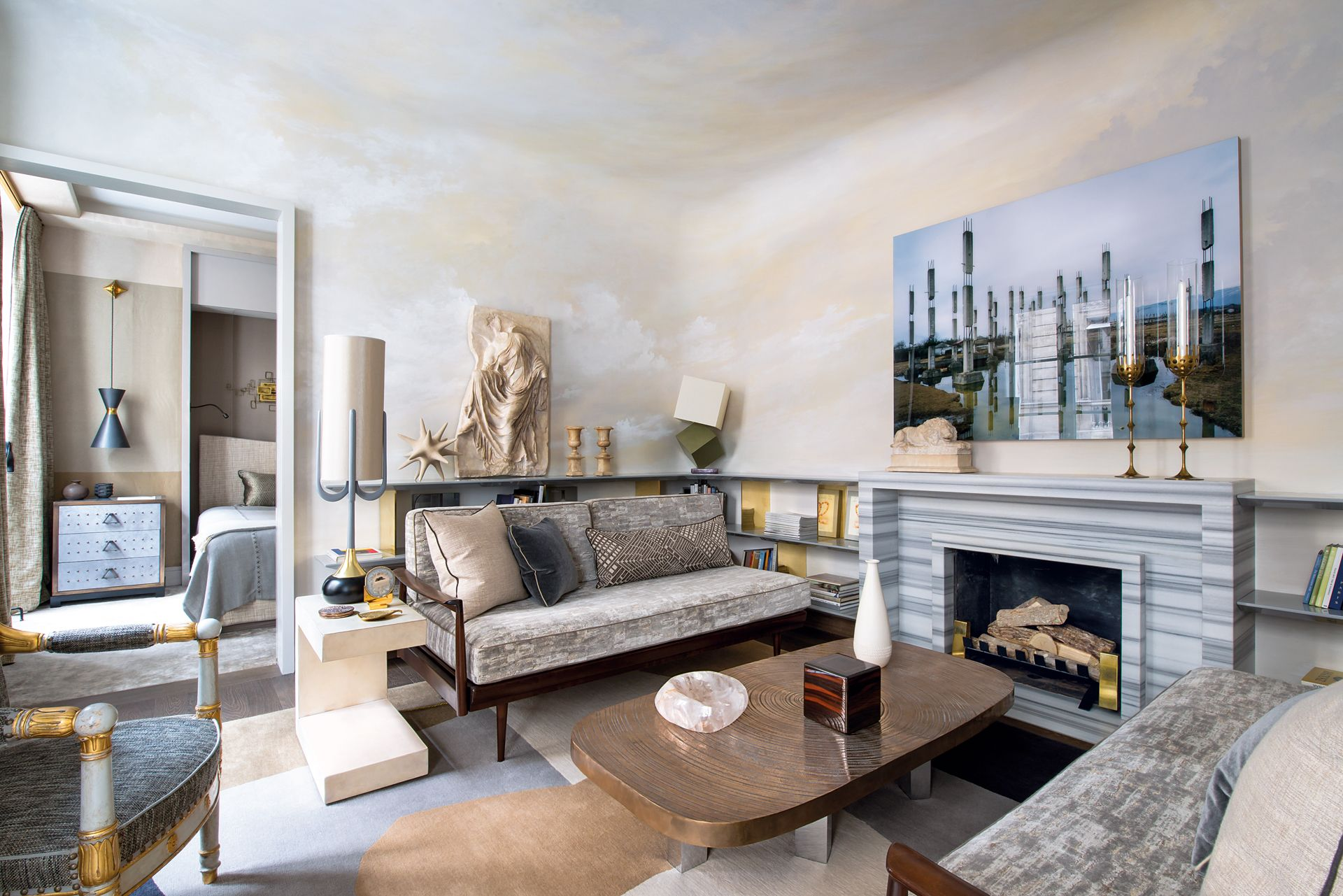 While his interior designs heavily reference the
