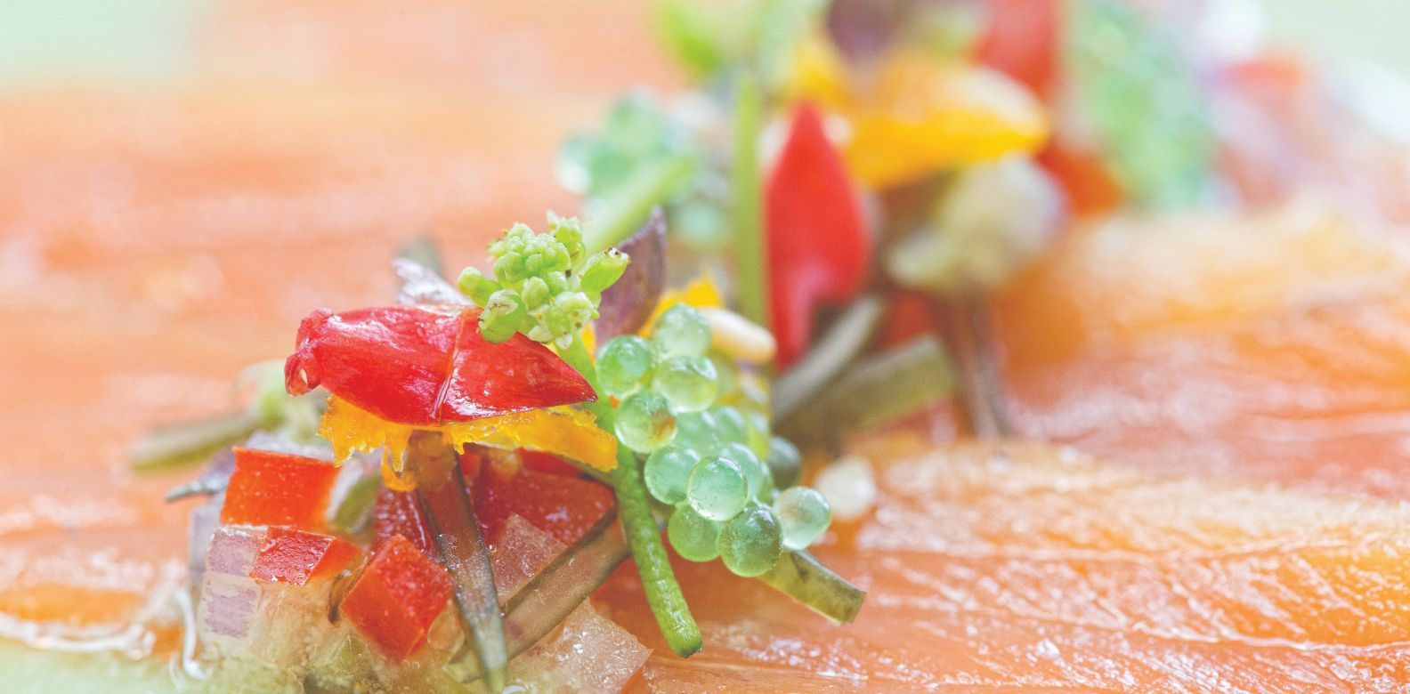 Citrus cured salmon carpaccio