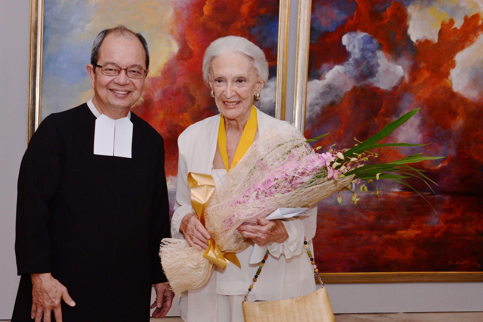 Br. Raymundo Suplido (President, DLSU) and Betsy Westendorp