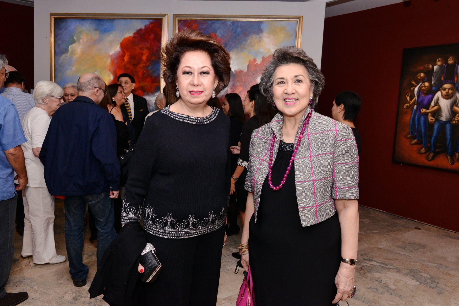 Olga Martel and Maritess Pineda
