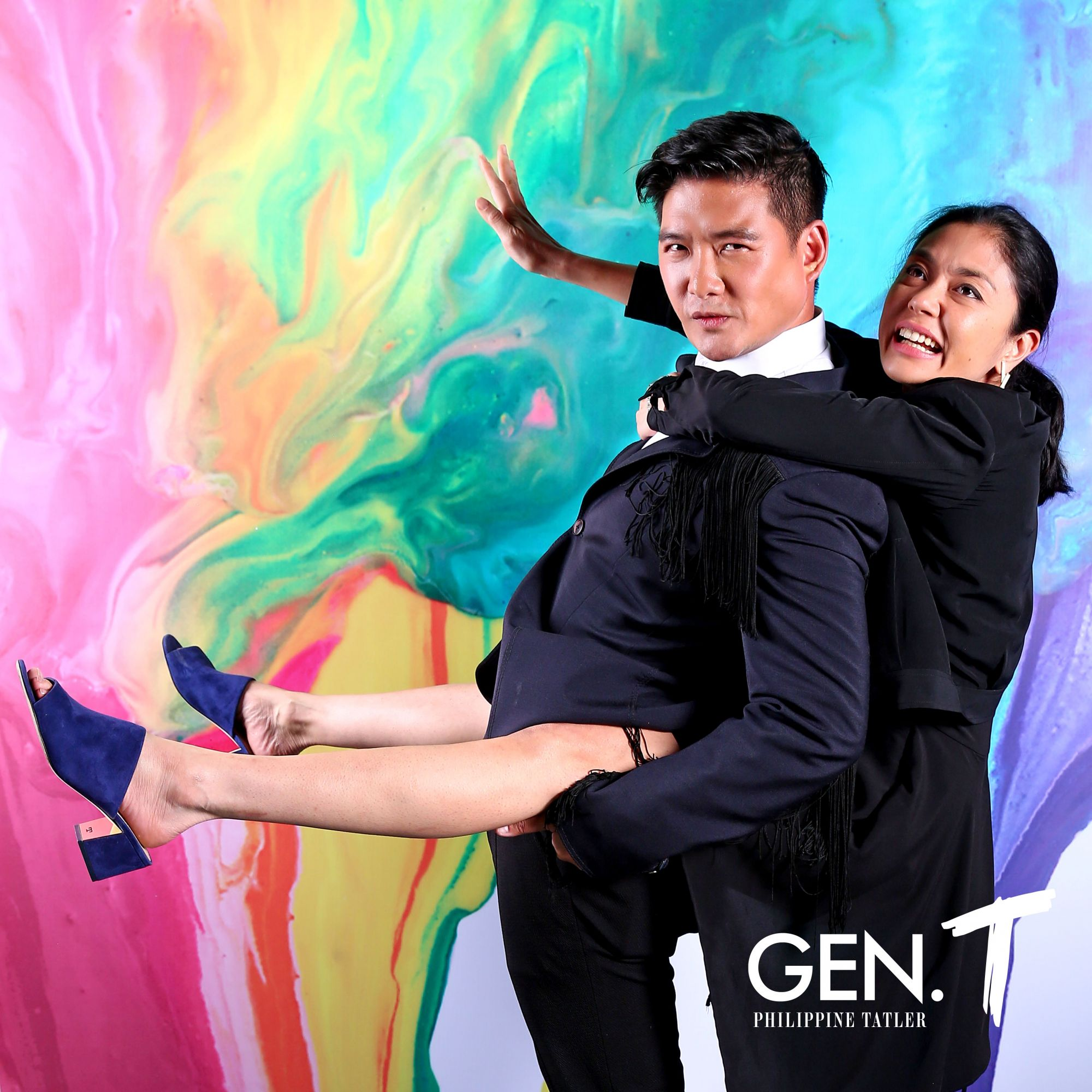 Tim Yap and Dina Tantoco