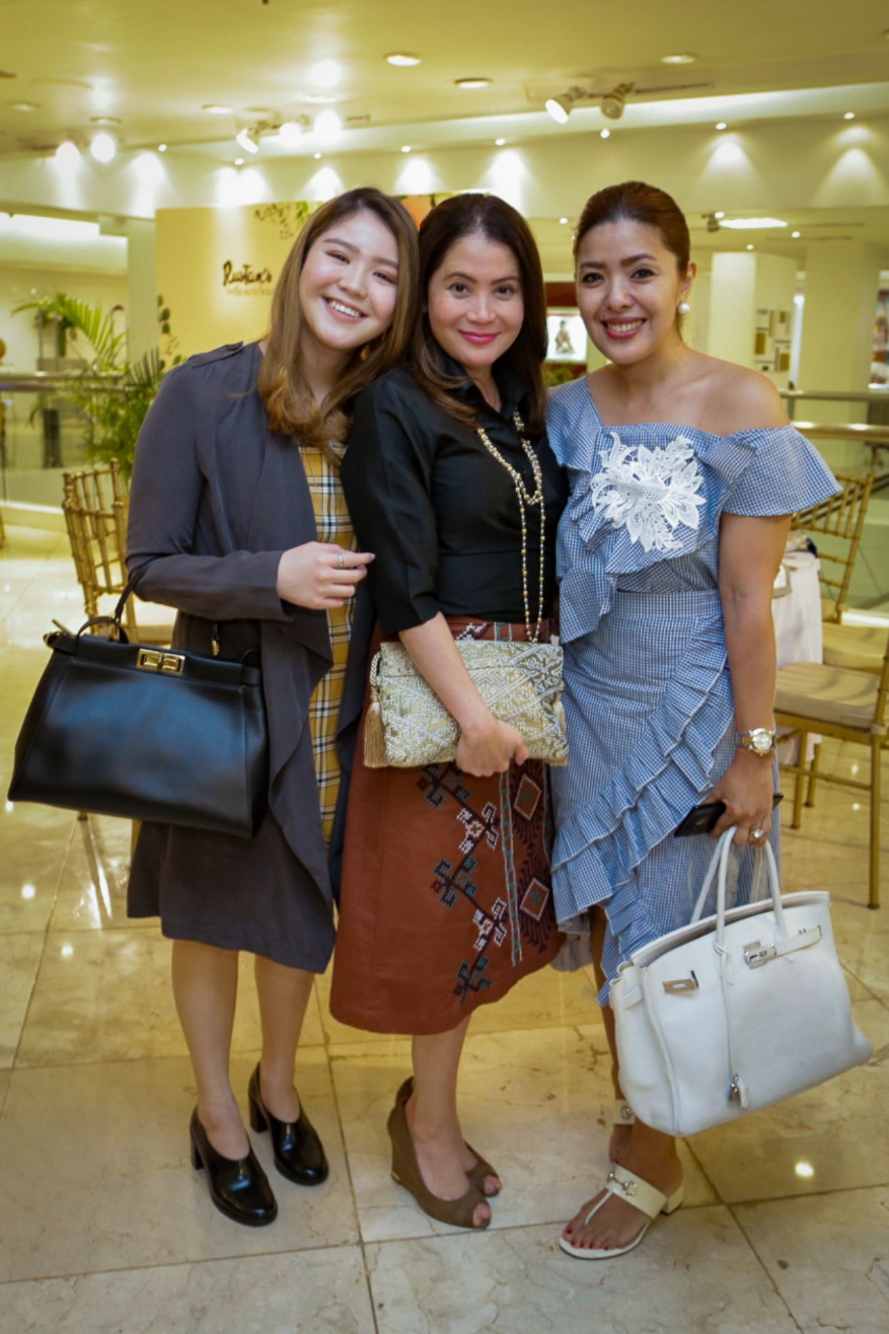 Maia and Berna Puyat with Happy Ongpauco-Tiu