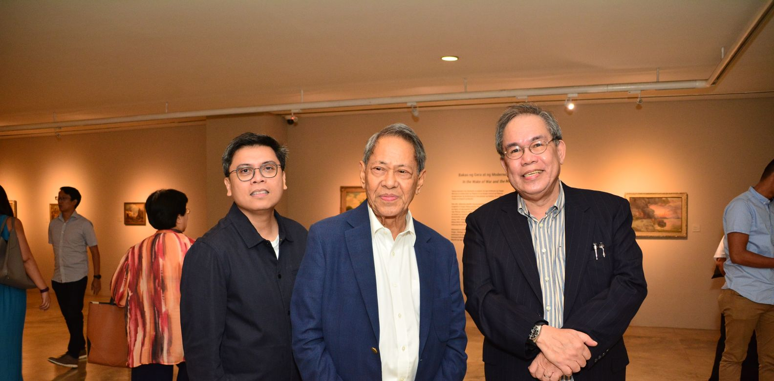 Dr. Patrick Flores, Sen. Edgardo Angara, and Dr. Jose Dalisay (Vice Chairperson for Public Affairs of UP Diliman)