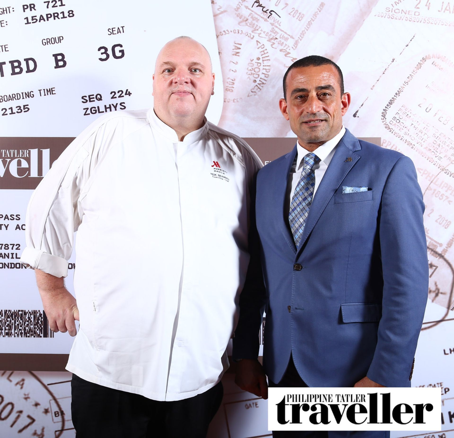 Chef Meik Brammer and Marriott's Director of F&B Mo Ali