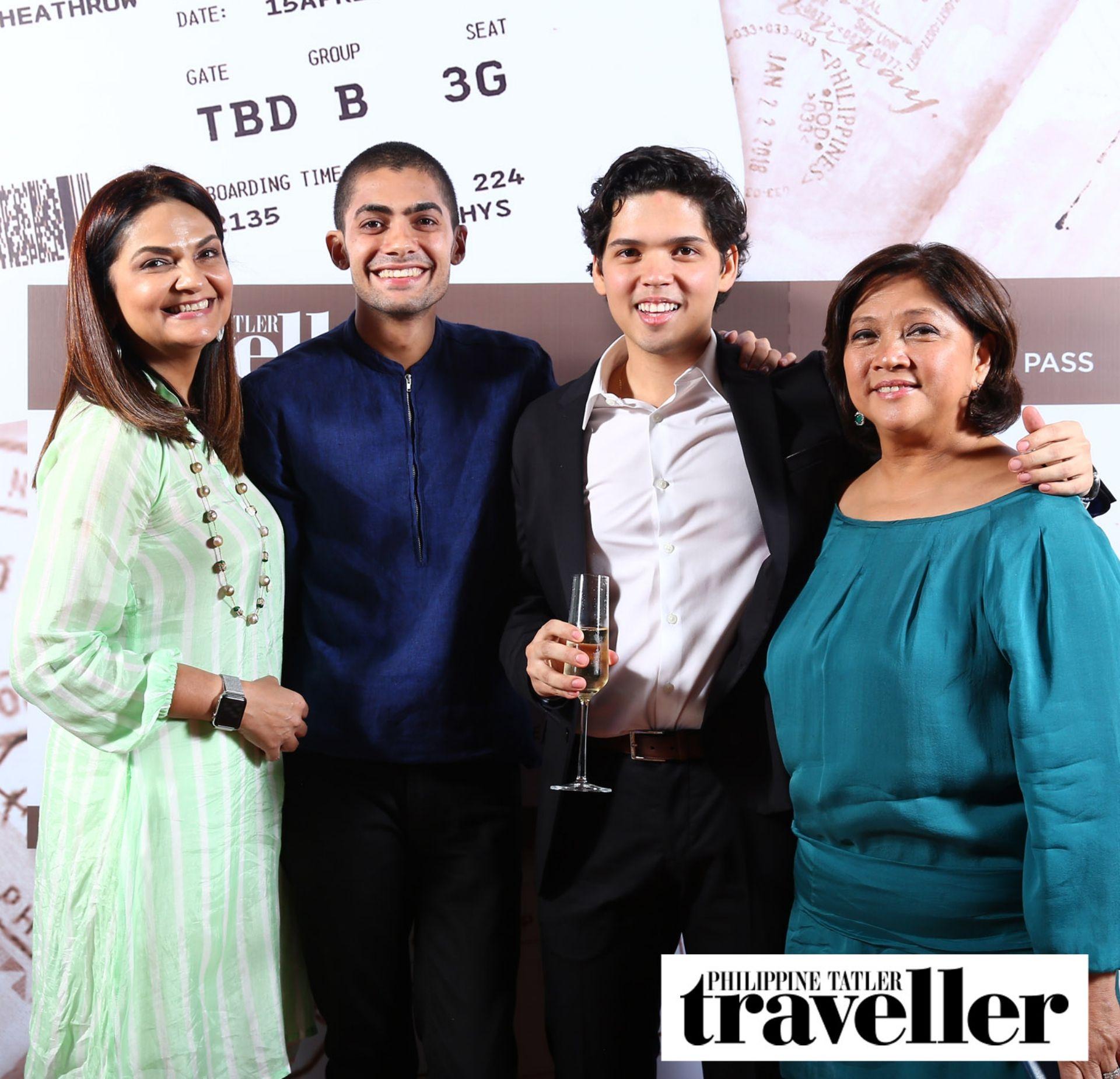Gina and Dinesh Mohnani with Jaime and Maricris Brias