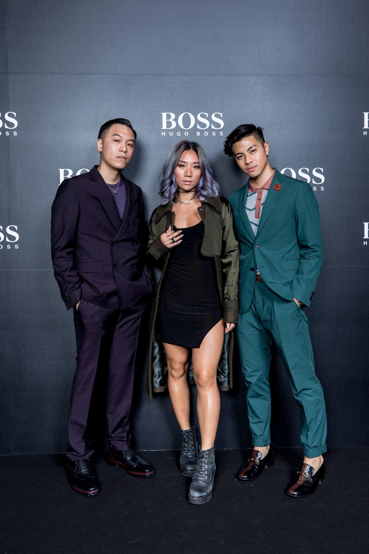 Jonathan Chua, Sandra Riley Teng, and Benjamin Kheng in BOSS
