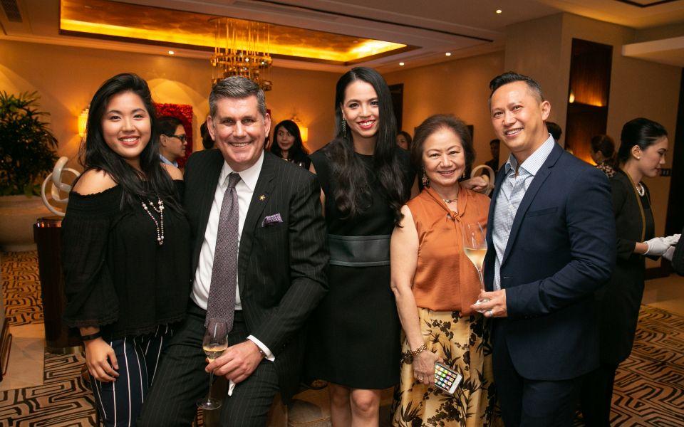 Isabel Francisco, Michael Ziemer VP Hotels; FB of City of Dreams Manila, Ingrid Chua, Charisse Chuidian VP of PR City of Dreams Manila and Edmond Yuen.