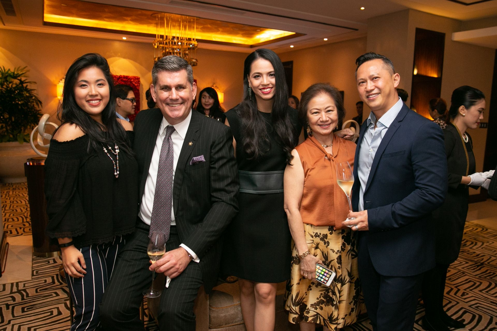 Isabel Francisco, Michael Ziemer VP Hotels; FB of City of Dreams Manila, Ingrid Chua, Charisse Chuidian VP of PR City of Dreams Manila and Edmond Yuen.