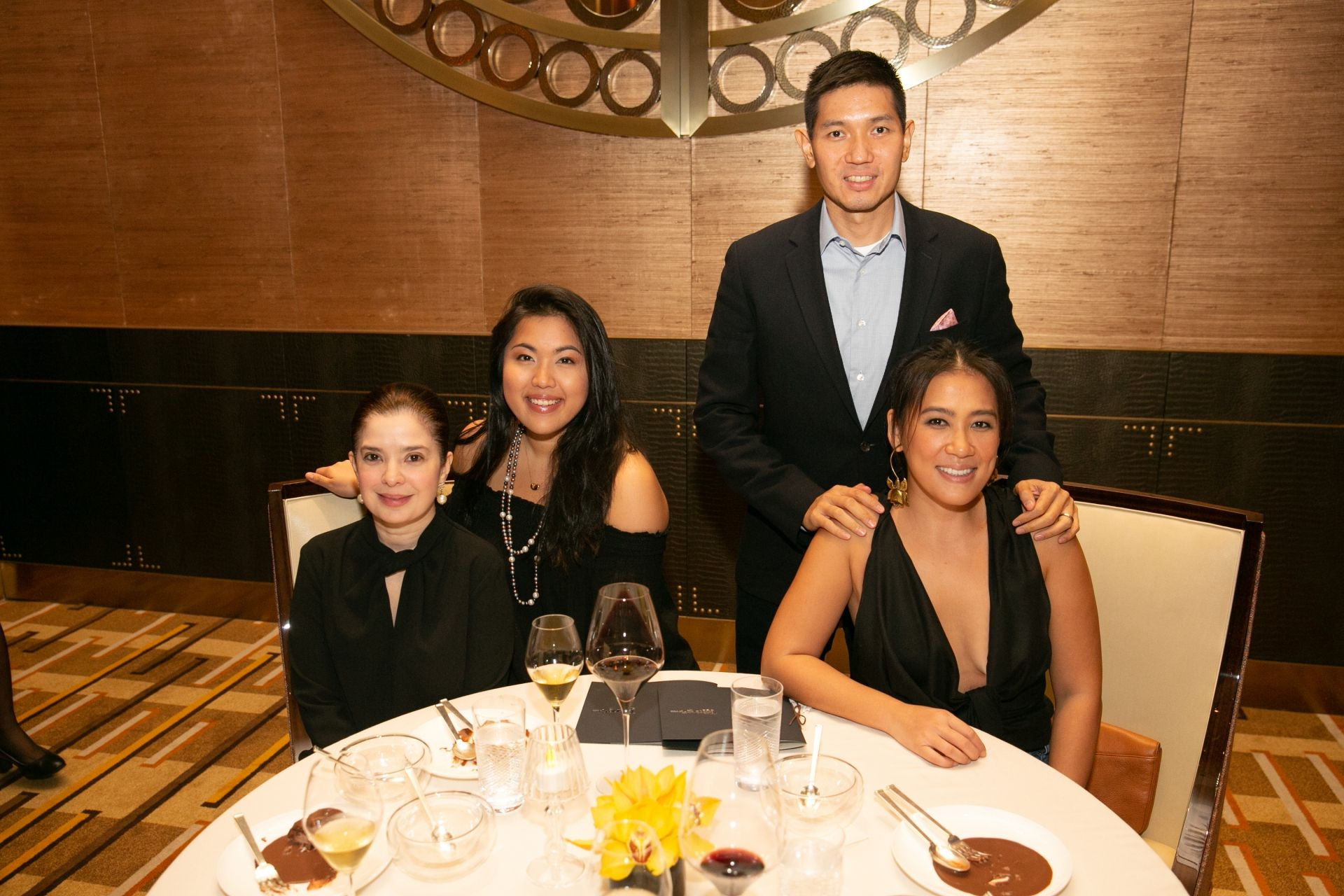 Nicole Ortega, Isabel Francisco, Michael and Kathy Huang
